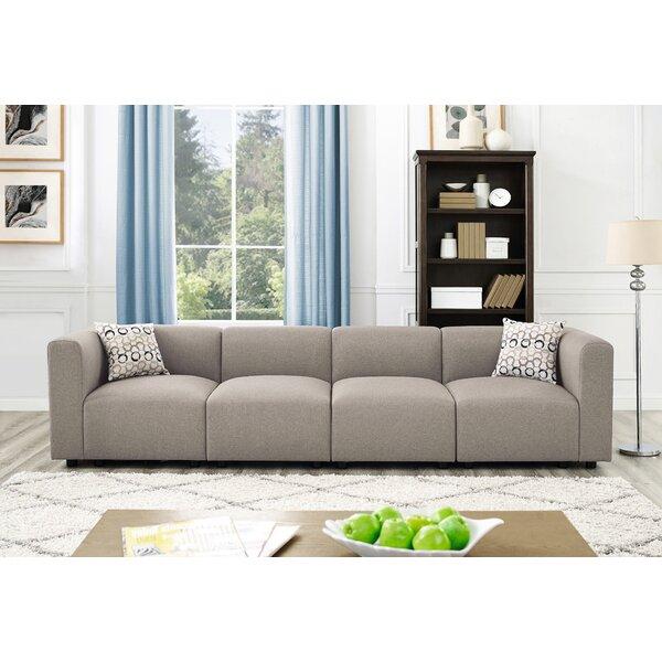 Karol Linen-Like Modular Sofa by Ivy Bronx