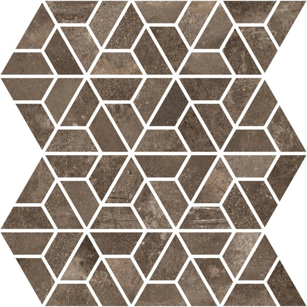 Basole 12 x 10 Ceramic Mosaic Tile in Bruno by Interceramic