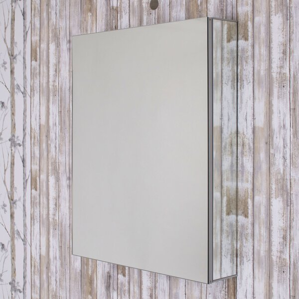 Como 24 x 30 Recessed or Surface Mount  Frameless Medicine Cabinet with 3 Adjustable Shelves