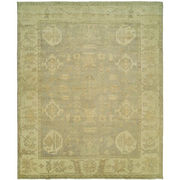 Herrick Hand Knotted Wool Gray/Ivory Area Rug by Fleur De Lis Living