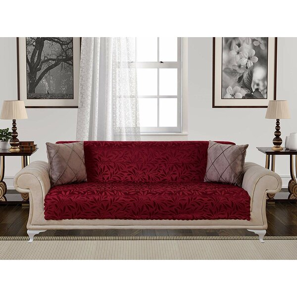 Acacia Anti-Slip Pet Furniture Protector Box T-Cushion Sofa Slipcover By Red Barrel Studio Red Barrel Studio