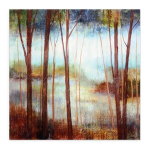 Soft Forest II by Ruane Manning Painting Print on Wrapped Canvas by Wexford Home