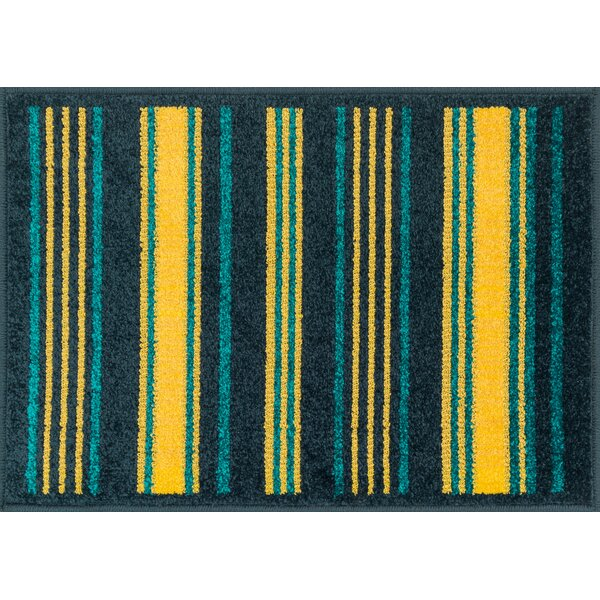 Laudenslager Yellow/Blue Area Rug by Ebern Designs