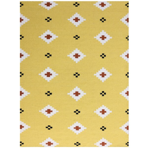 Pietsch Yellow Area Rug by Wrought Studio