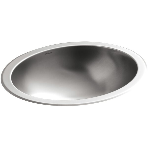 Bachata Metal Oval Undermount Bathroom Sink by Kohler