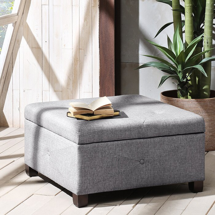Astounding Bantom Tufted Storage Ottoman Gmtry Best Dining Table And Chair Ideas Images Gmtryco