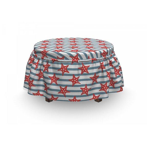 Starfish Seastars 2 Piece Box Cushion Ottoman Slipcover Set By East Urban Home