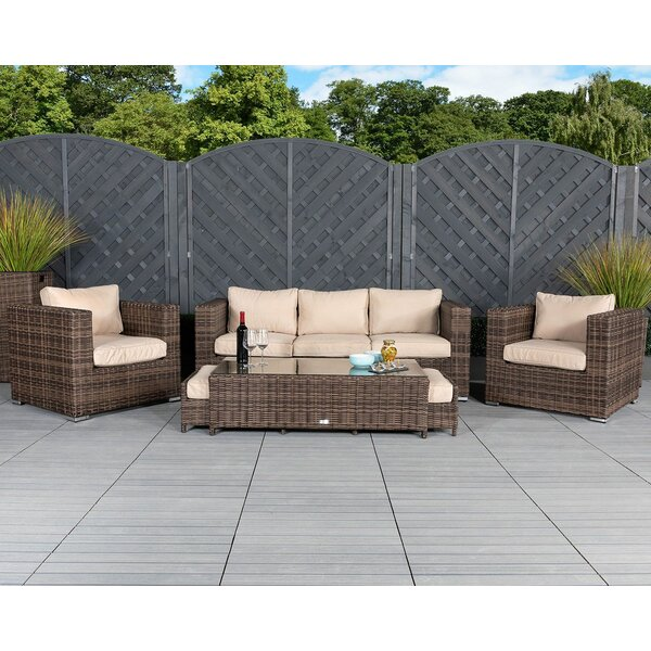 Dorafine 6 Piece Sectional Seating Group with Cushions by StellaHome