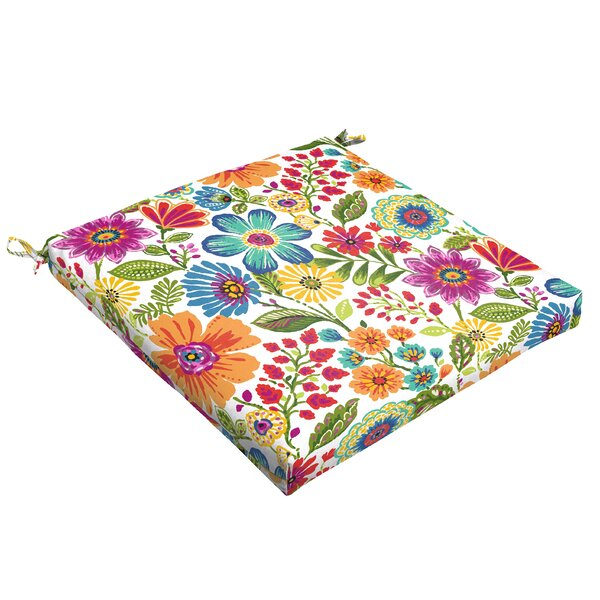Paxton Floral Indoor/Outdoor Dining Chair Cushion by Andover Mills