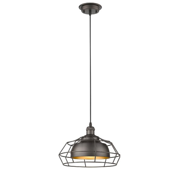 Bouvet Industrial 1-Light Geometric Pendant by Laurel Foundry Modern Farmhouse