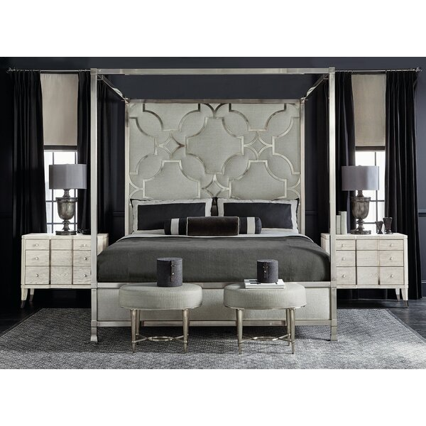 Domain Blanc Upholstered King Canopy Configurable Bedroom Set by Bernhardt