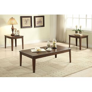 Edmundson Wooden 3 Piece Coffee Table Set Darby Home Co