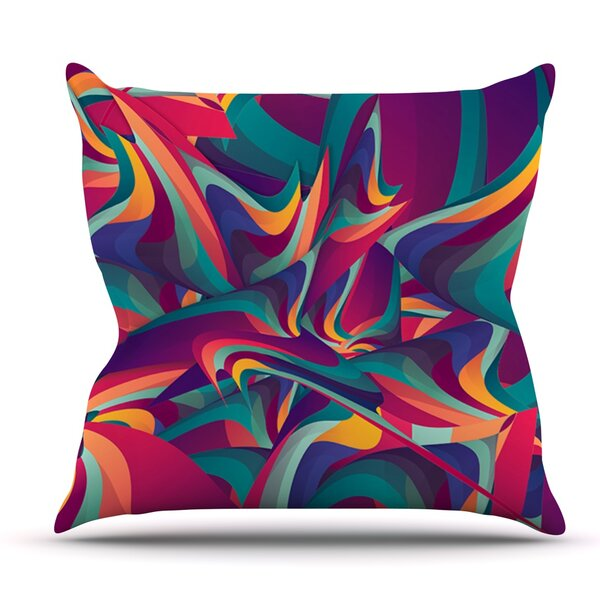 Wrong Past by Danny Ivan Outdoor Throw Pillow by East Urban Home