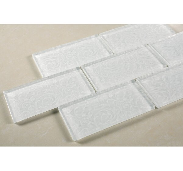 Deco 11.75 x 11.75 Glass Subway Tile in White by Multile