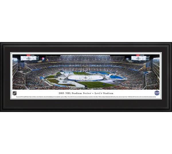 NHL 2015 Stadium Series - Kings by Christopher Gjevre Framed Photographic Print by Blakeway Worldwide Panoramas, Inc