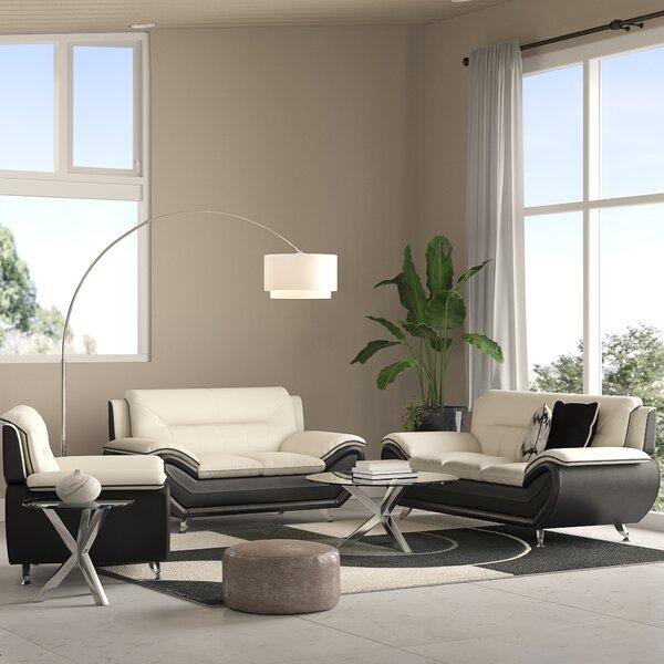 Jasmin 3 Piece Living Room Set by Orren Ellis