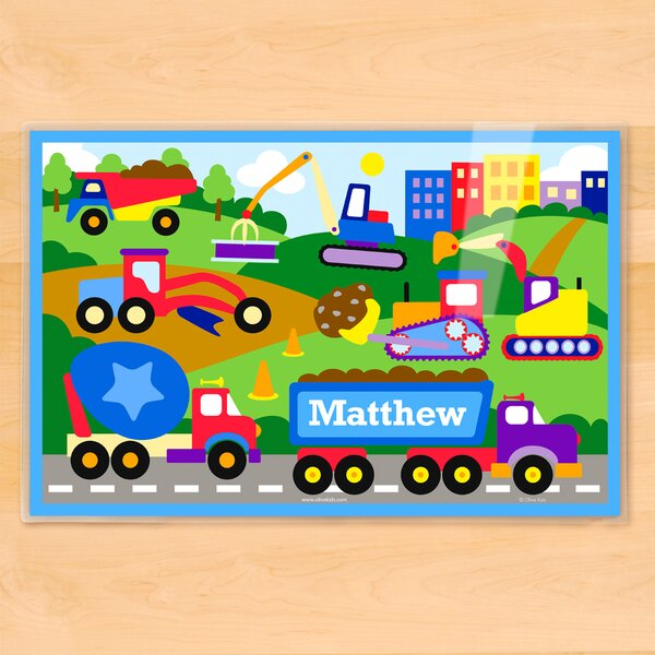 Under Construction Personalized Placemat by Olive Kids