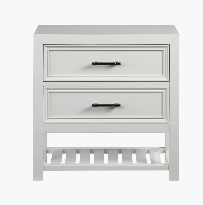 Elosie 2 Drawer Nightstand