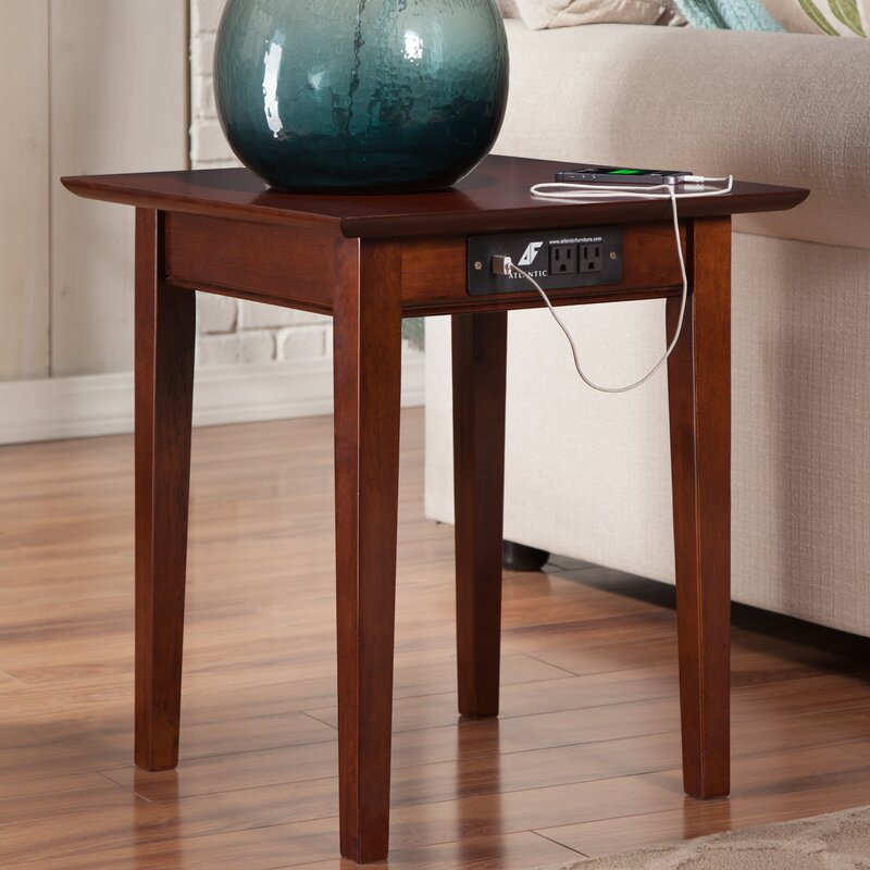 Ithaca End Table With Charging Station