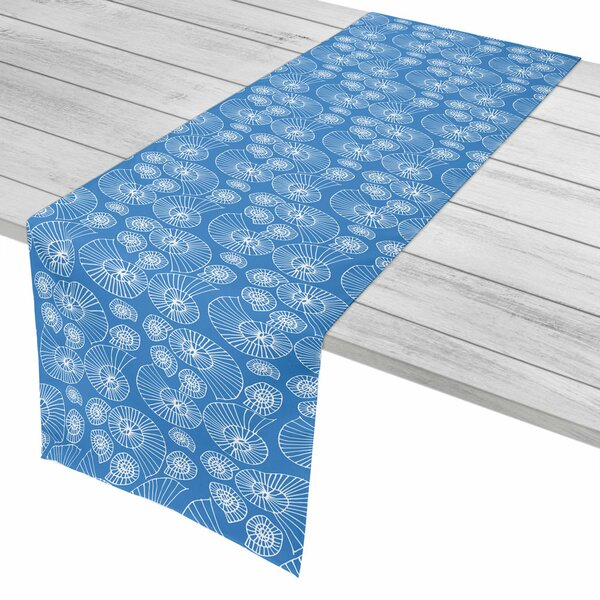 Coastal Nautilus Outline Table Runner by Island Girl Home