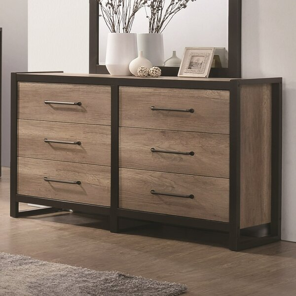 Lannie 6 Drawer Double Dresser by Williston Forge