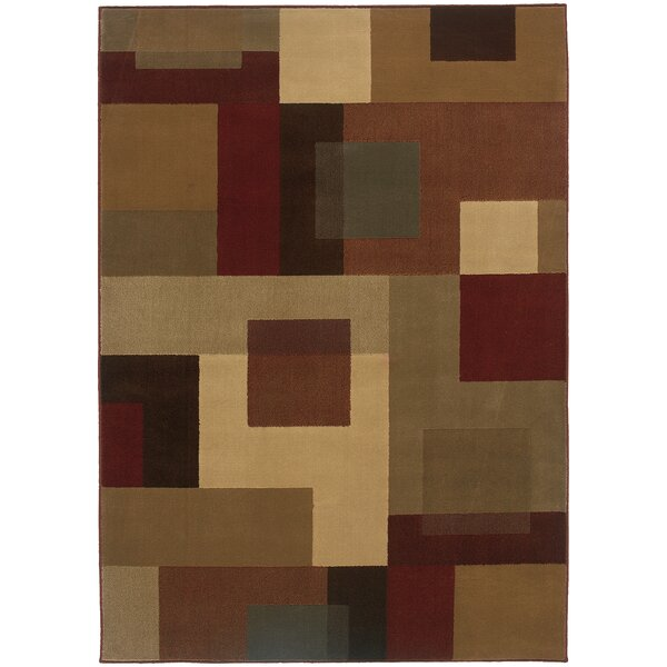 Garmon Red/Tan Area Rug by Andover Mills