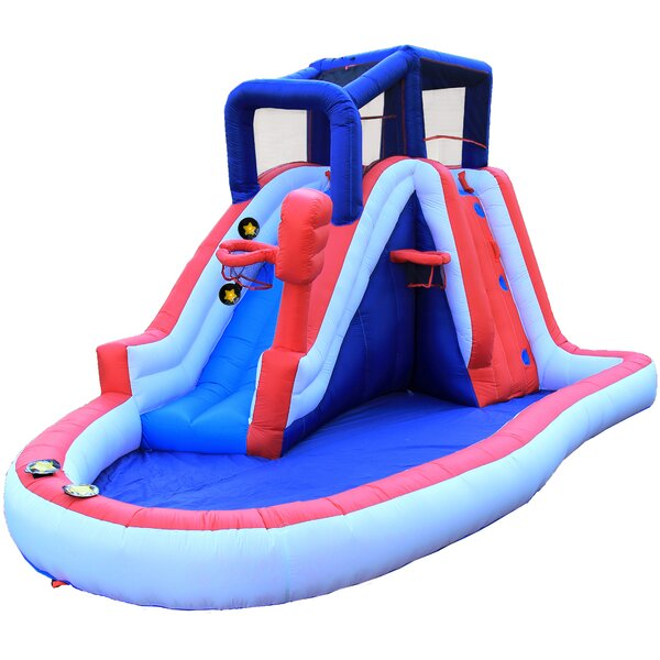 WonderBounz Inflatable Liberty Slam Dunk Slide With Lited