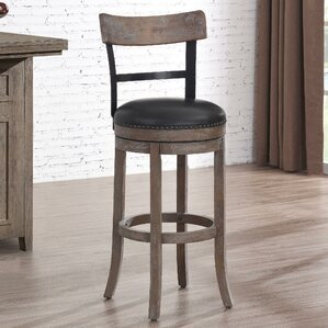 Carondelet 34  Swivel Tall Bar Stool & Extra Tall Bar Stools 34 Inch Seat Height | Wayfair islam-shia.org