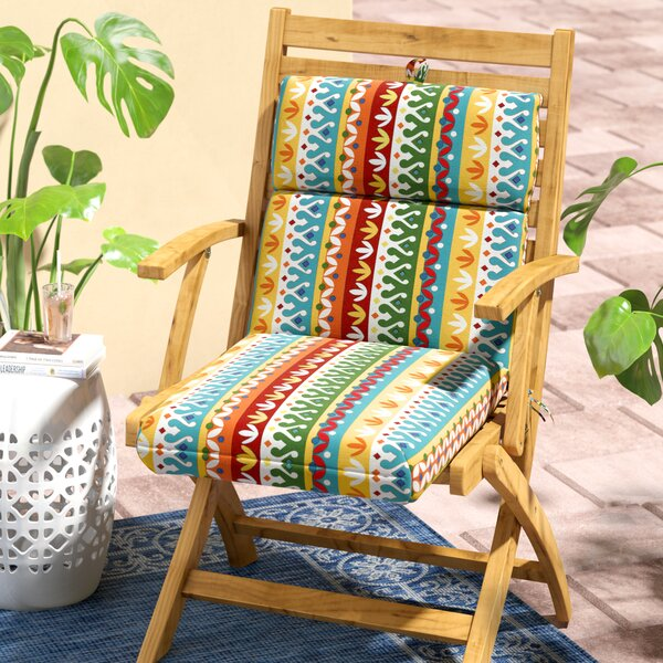 Indoor/Outdoor Polyester Dining Chair Cushion by World Menagerie