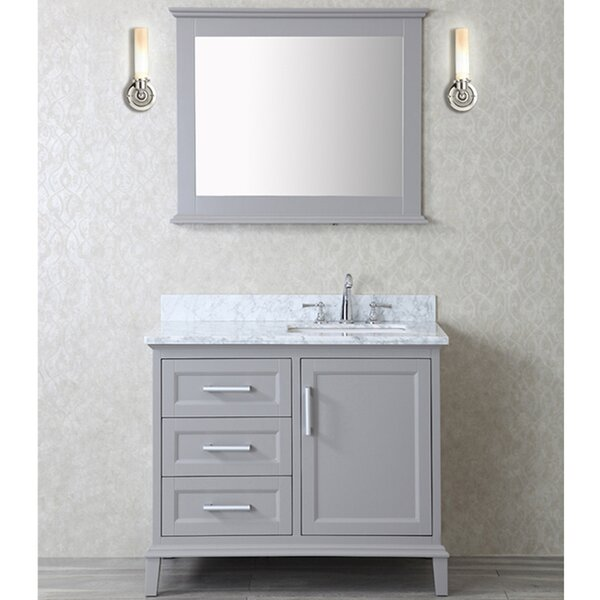 Denice 42 Single Bathroom Vanity Set with Mirror by Latitude Run