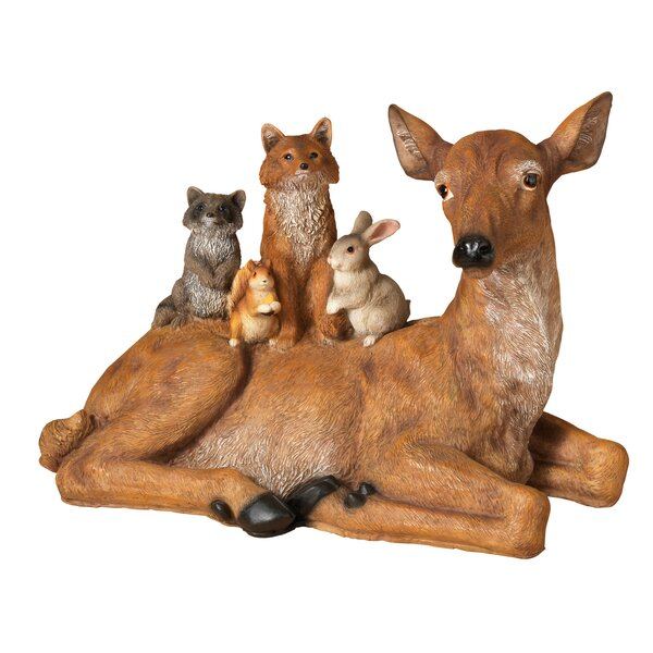 Resin Deer Laying Down by Gerson International