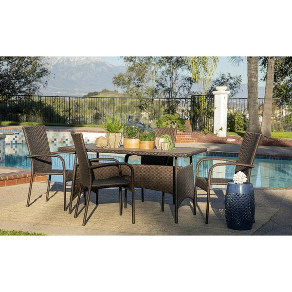 Menahan Outdoor 5 Piece Dining Set by Canora Grey