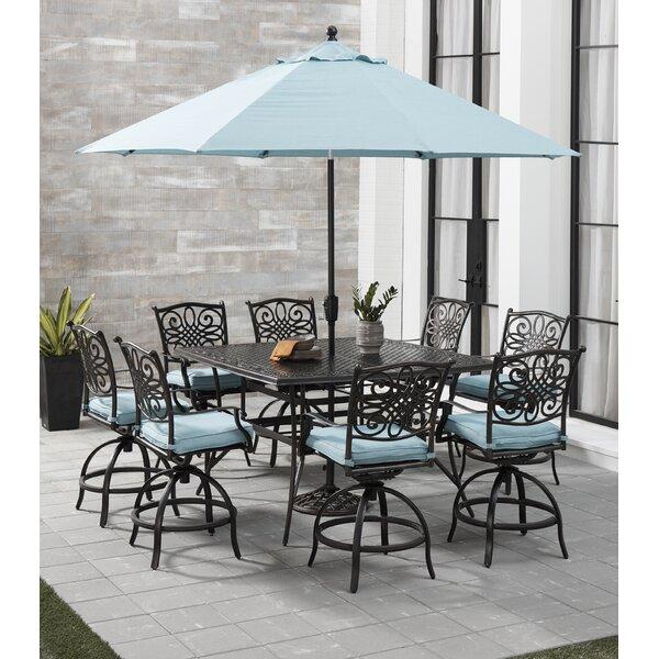 Carleton 5 Piece High Dining Set with Cushions by Fleur De Lis Living