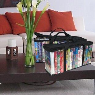 Evelots VHS Storage BagMovie OrganizerVideo TapeHandlesHold 30No DustSet2 Set of 2