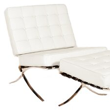 Savoye Lounge Chair and Ottoman by Lazzaro Leather