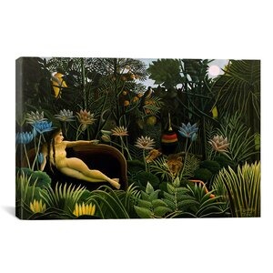 'The Dream 1910' by Henri Rousseau Painting Print on Canvas by iCanvas
