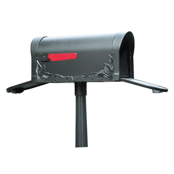 Floral Post Mounted Mailbox by Special Lite Products