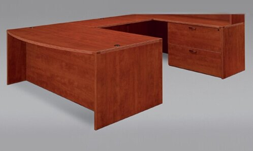 Fairplex Right / Left with Lateral File and Wire Management U-Shape Executive Desk by Flexsteel Contract
