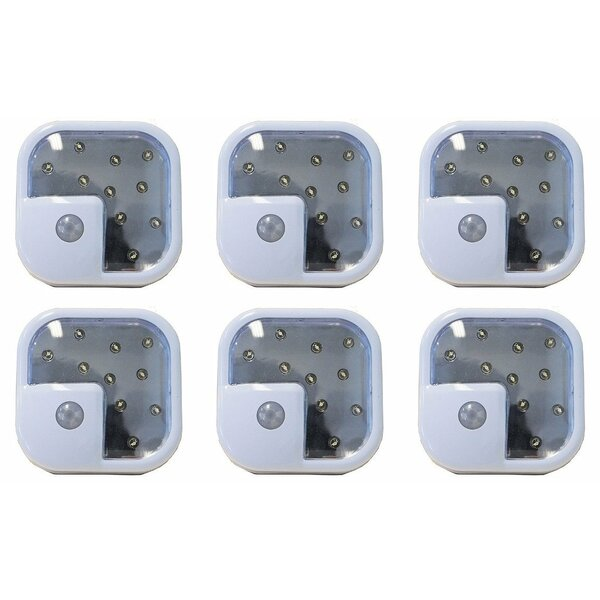 Inglow 6-Light ADX Wireless Motion Sensor LED Light, 6-Pack (Set of 6) by Newhouse Lighting