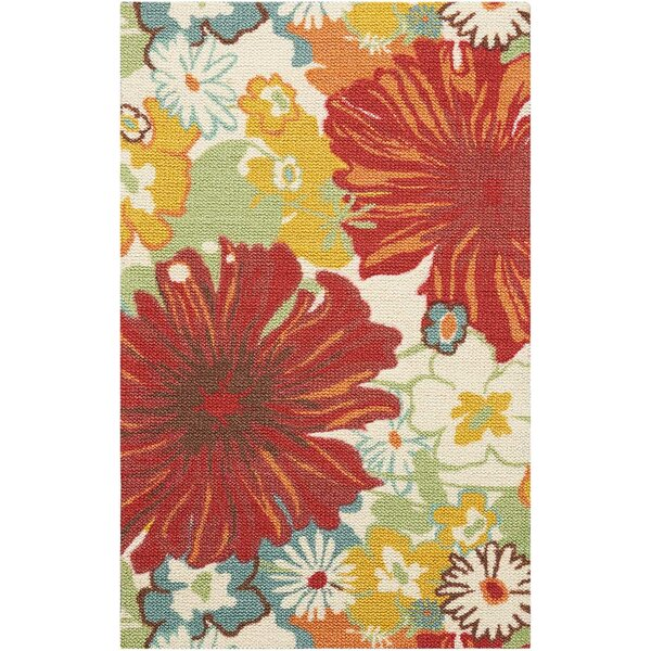 Sharan Red/Ivory Area Rug by Winston Porter