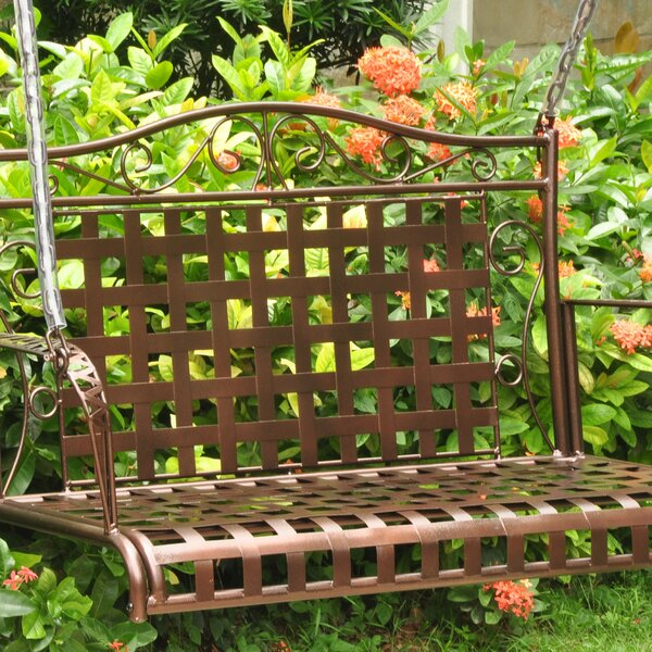 Saundra Iron Porch Swing by Fleur De Lis Living