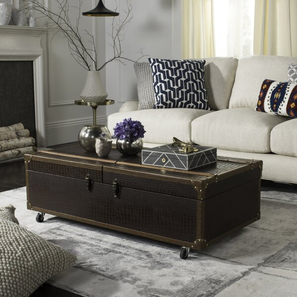 Hassan Coffee Table with Storage by World Menagerie World Menagerie