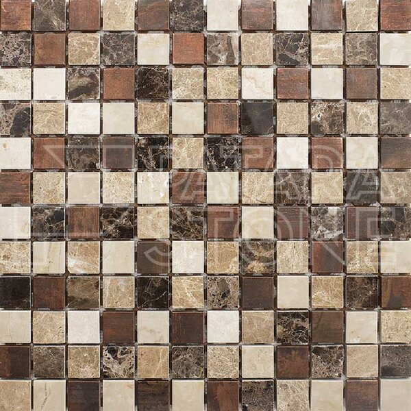 Vintage 1 x 1 Natural Stone Mosaic Tile in Copper by Travis Tile Sales