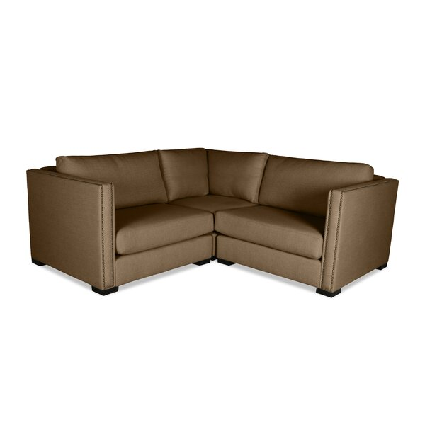 Timpson Symmetrical Right And Left Arms L-Shape Mini Modular Sectional By Latitude Run