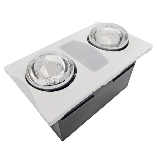 Bathroom Fan aero pure 80 cfm bathroom fan with heater and light & reviews