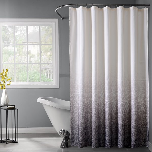 Otelia Lace Ombre Shower Curtain by House of Hampton