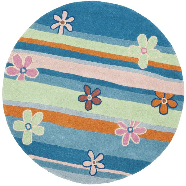 Claro Striped Blue / Multi Rug by Harriet Bee