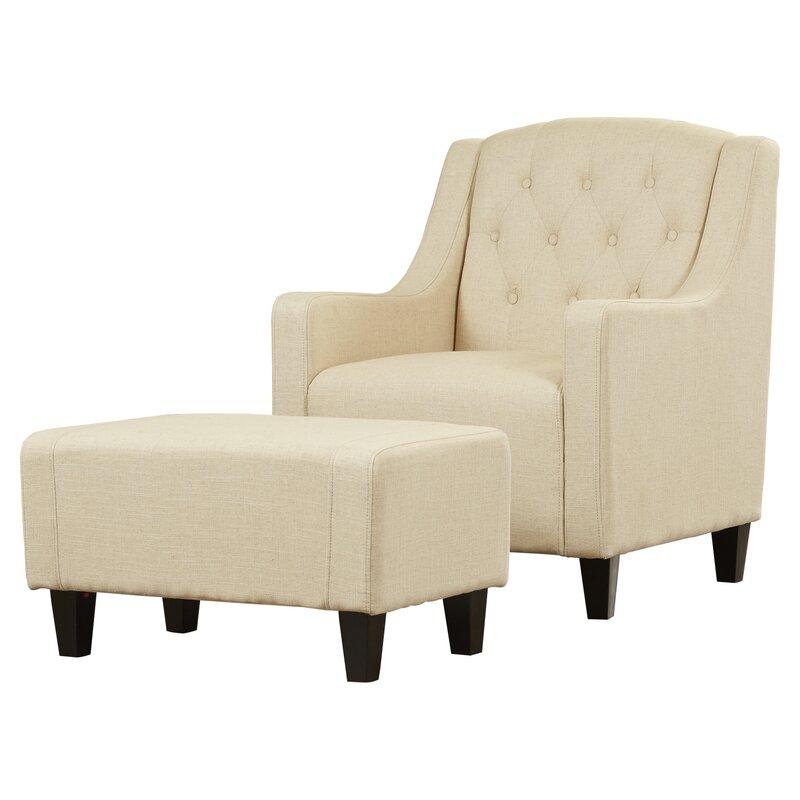 chair ottoman. 2-piece bradley tufted arm chair \u0026 ottoman set c