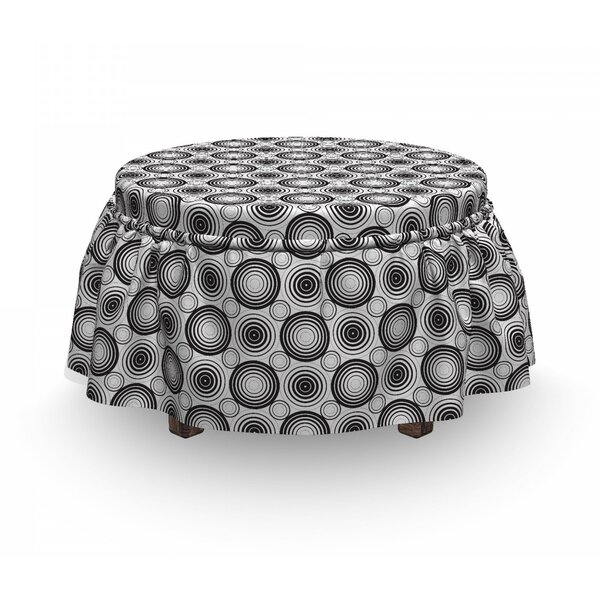 Circles Mosaic Ottoman Slipcover (Set Of 2) By East Urban Home