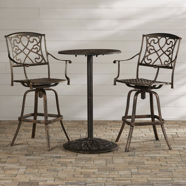 Wynn 3 Piece Bar Height Dining Set by Astoria Grand